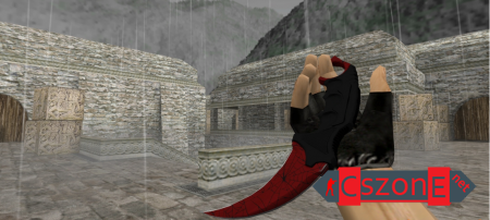 Модель ножа HD Karambit | Crimson Web для CS 1.6